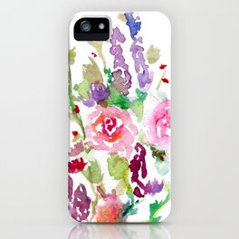 Bright Pink and Purple Wildflowers iPhone Case