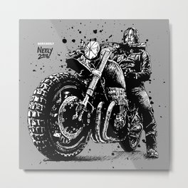 Reunited and it Feels So Good. Norman Reedus as Daryl Dixon from the Walking Dead and his Motorcycle Metal Print