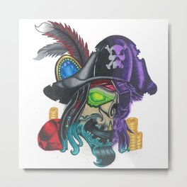 Pirate Plunder Metal Print