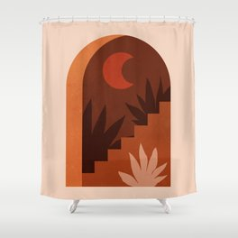 Abstraction_MOON_HOME_Minimalism_001 Shower Curtain