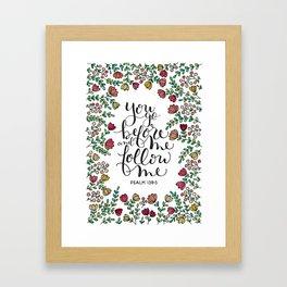 Psalm 139:5 Framed Art Print