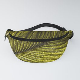 Chartreuse Feather Macro Fanny Pack