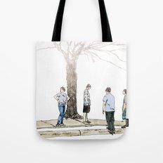 tree plus people Tote Bag