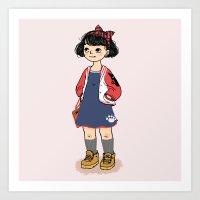 kiki Art Prints featuring Kiki by Luchie