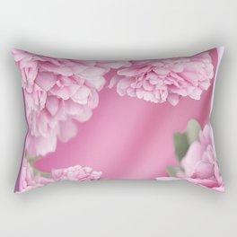 Pink Peonies In Frame #decor #society6 #buyart Rectangular Pillow