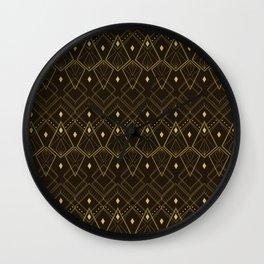 Deco Diamonds Wall Clock