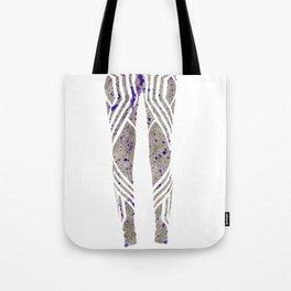 Silver & Purple Tote Bag