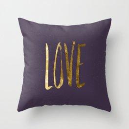 Love —gold Throw Pillow