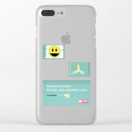 Emoji Clear iPhone Case