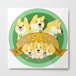 Cory's Corgis Metal Print