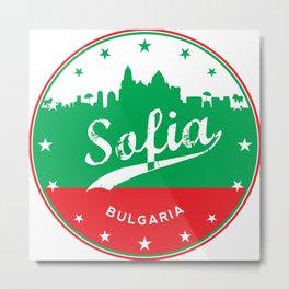 Sofia city, Bulgaria, circle Metal Print