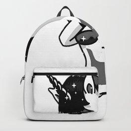 Dabbing Goth Unicorn Fun Gift Idea Design Backpack