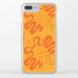 Nectarine Citrus - Playful Abstract Shapes_002 Clear iPhone Case