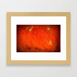 Italian Style Orange Stucco - Adobe Shadows Framed Art Print