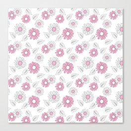 Simple Flowers 1 Canvas Print