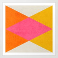 triangles Art Prints featuring summer triangles by her art