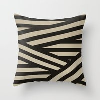 decal Throw Pillows featuring Bandage by Charlene McCoy