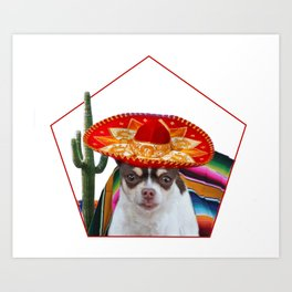 Mexican chihuahua dog Art Print