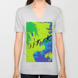 Artist's Paint Drop Cloth Unisex V-Neck
