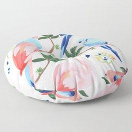 Jungle Birds II Floor Pillow