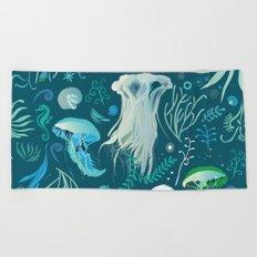 Aqua pattern Beach Towel