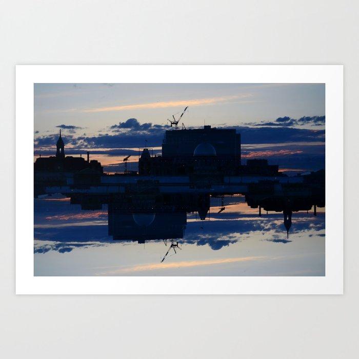 City in Shadow Art Print