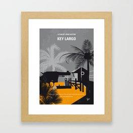 No998 My Key Largo minimal movie poster Framed Art Print