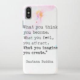 Buddha magic quote iPhone Case