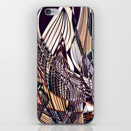 SWEEPING LINE PATTERN I iPhone Skin