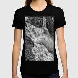 Black and White Beautiful Waterfall T-shirt