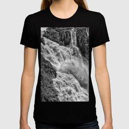 Black and White Beautiful Waterfall T-shirt