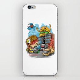 ramen vs hamburger iPhone Skin