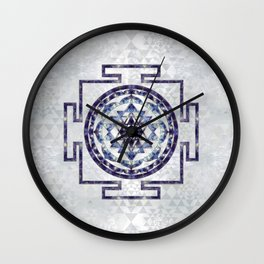 Sri Yantra  / Sri Chakra Gemstone and pearl Wall Clock