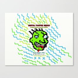 Certified Ethical Computer Hacker (Anti Hackers Team) Canvas Print