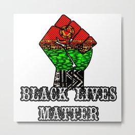 Black Lives Matter Unity fist Metal Print