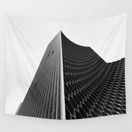 Pinnacle || black and white architecture photography || SINGAPORE Wall Tapestry