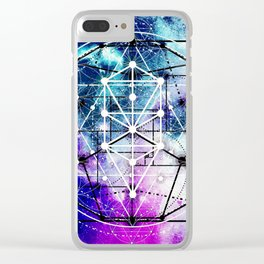 Sacred Geometry: Intertwined Clear iPhone Case
