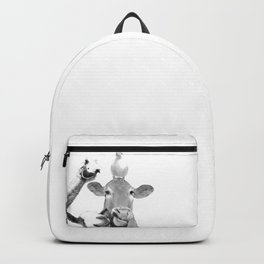 Black and White Farm Animal Friends Backpack