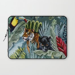 Jungle with tiger and tucan Laptop Sleeve