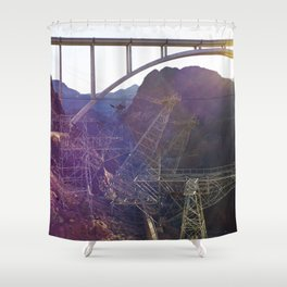 Hoover Dam Electicity Towers Shower Curtain