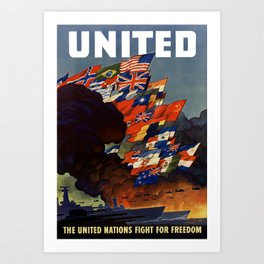 The United Nations Fight For Freedom Art Print