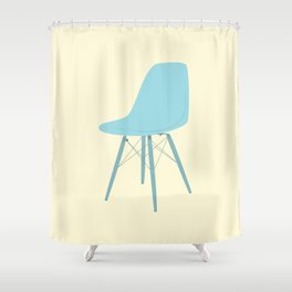 EAMES Ray & Charles Eames Molded Side Chair Shower Curtain