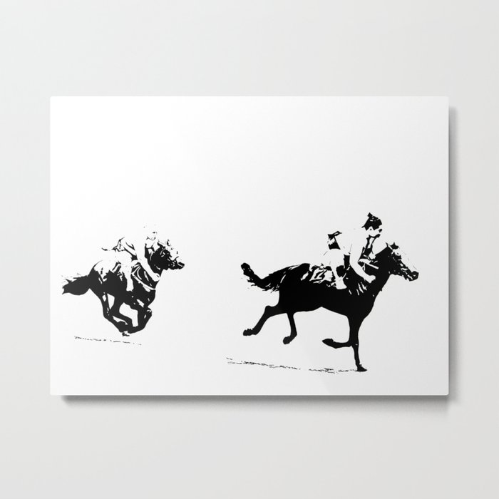 Sumos at the Races Metal Print