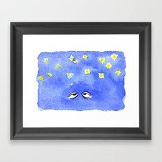 Starry Eyes Framed Art Print