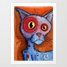 zombie cat Art Print