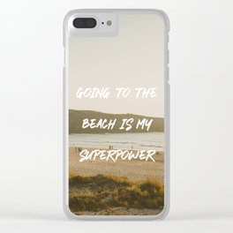 Going to the beach is my superpower Clear iPhone Case