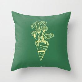 Bouquet (green) Throw Pillow