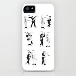 Stewart-Colbert: Fear vs. Sanity iPhone Case