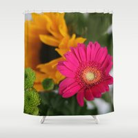 hot pink Shower Curtains featuring hot pink by EnglishRose23