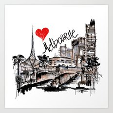I love Melbourne Art Print